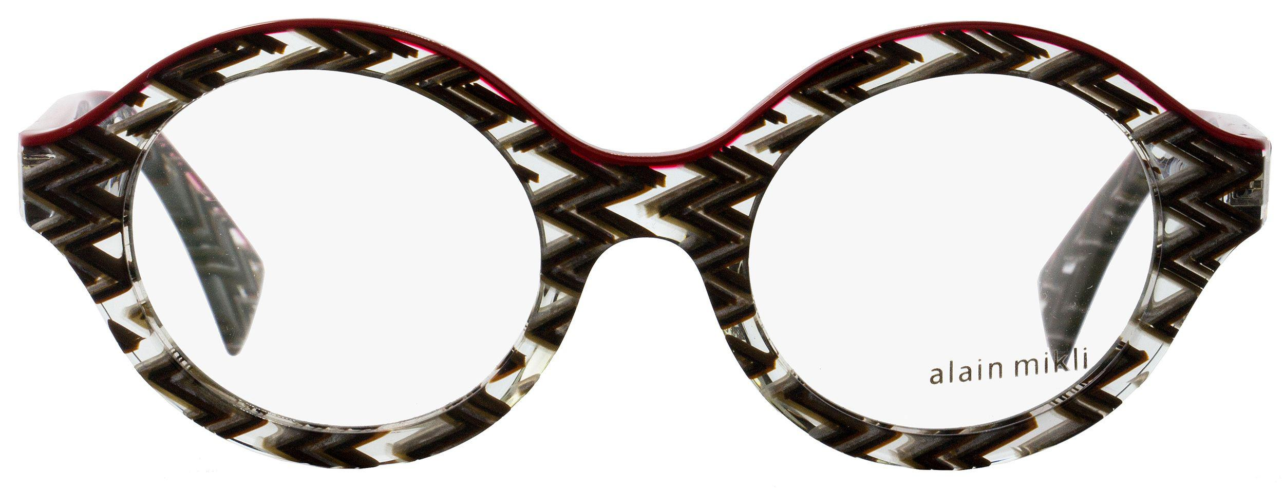 95710858f0 Lyst - Alain Mikli Oval Eyeglasses A03020 4113 Size  48mm Gray Zig ...