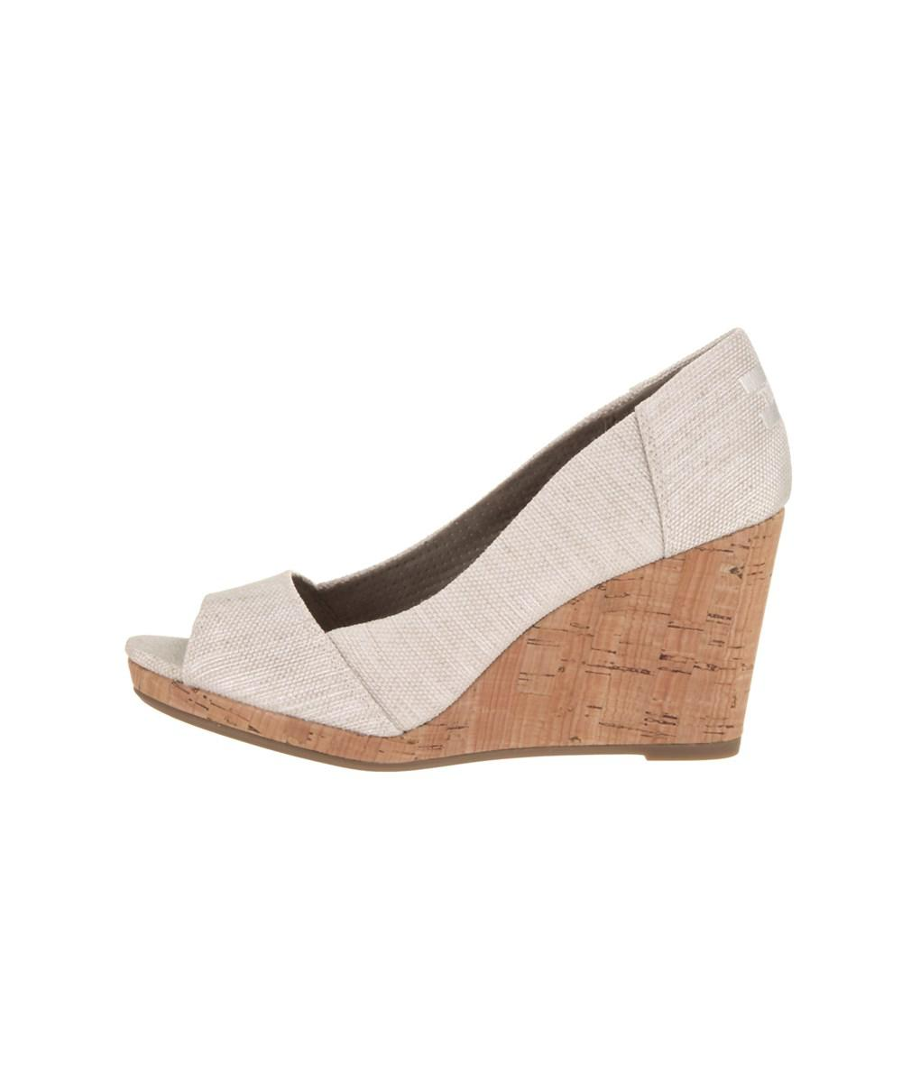 bea68c9ecd5 Lyst - Toms Women s Stella Wedge Casual Shoe in White