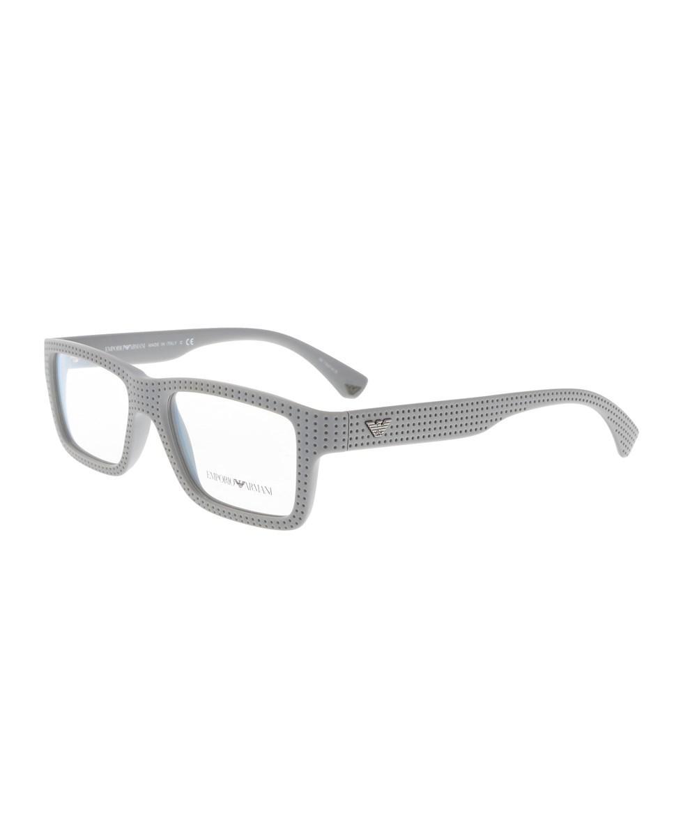 d69fa7a8bce6 Lyst - Emporio Armani Ea3019 5141 53 Gray Rectangle Optical Frames ...