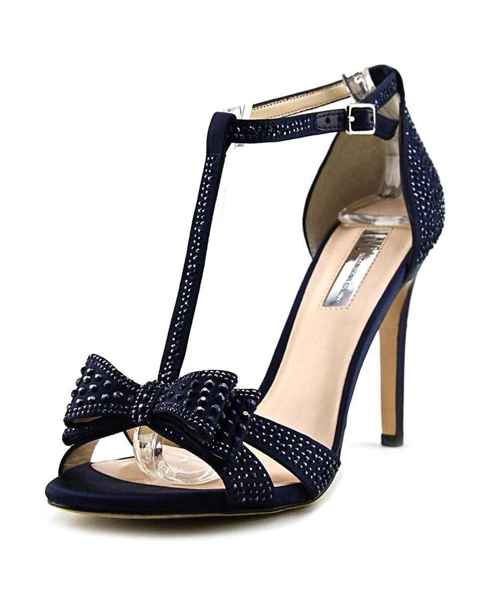 c707781358c0 INC International Concepts. Blue Womens Reesie Leather Open Toe Ankle Strap  ...