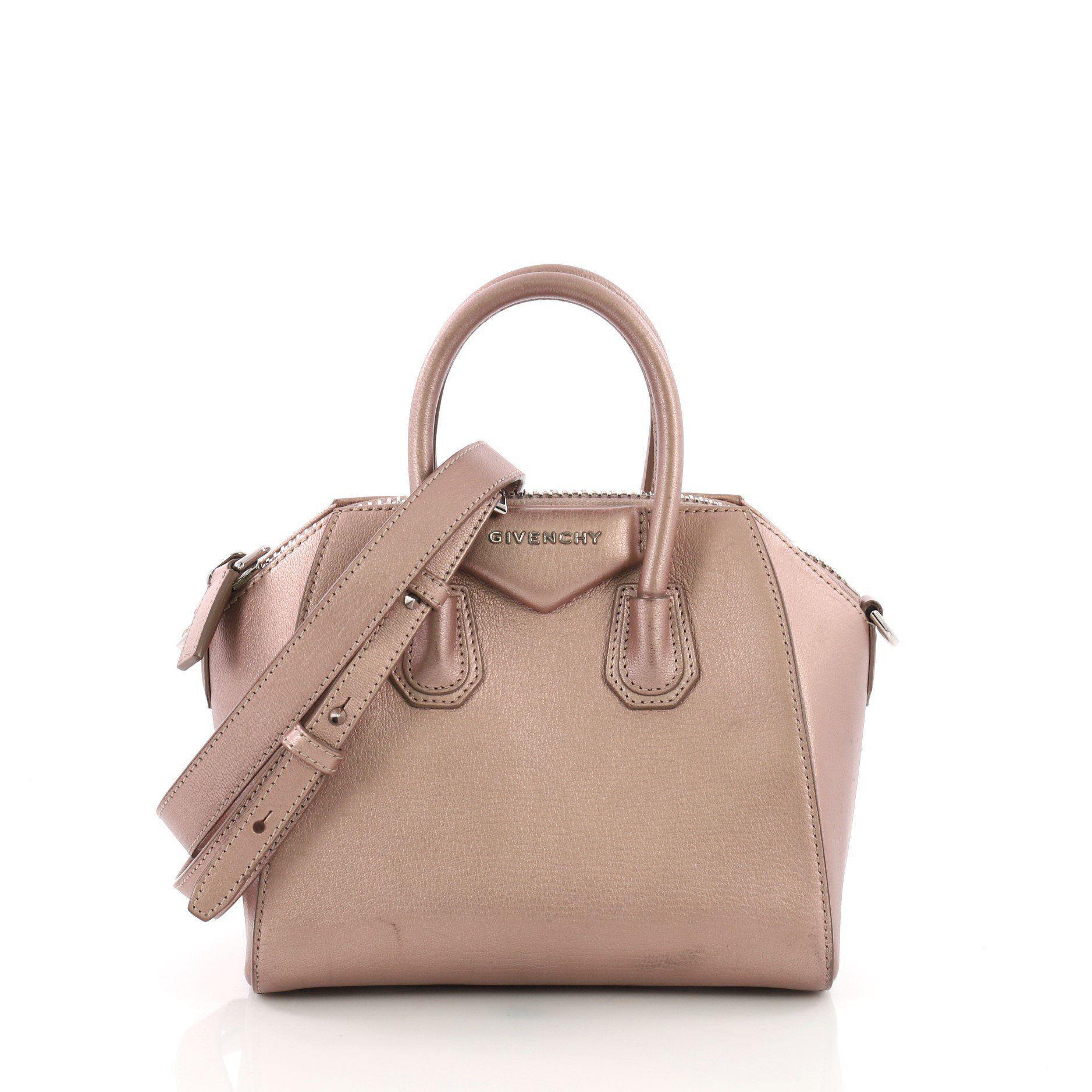 e52a17787e0a Lyst - Givenchy Pre Owned Antigona Bag Leather Mini