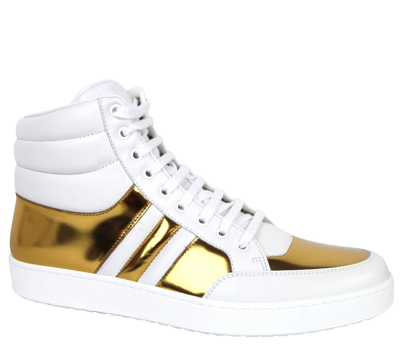 f4f6b14a7 Gucci - White High Top Contrast Padded Leather Sneaker 368494 for Men - Lyst.  View fullscreen