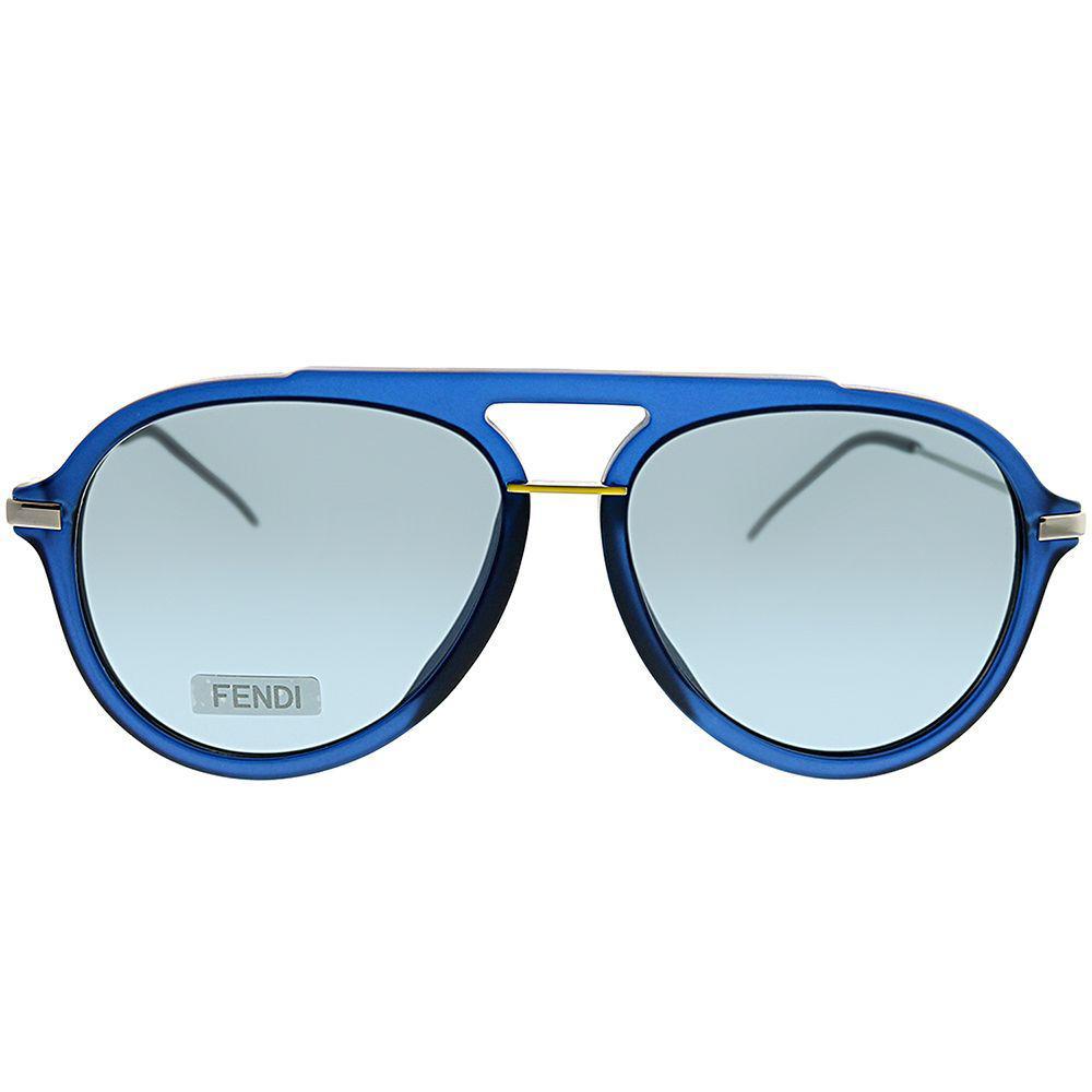 b8ebe3ad95f1 Fendi - Fantastic Ff M0011 s Pjp Blue Aviator Sunglasses - Lyst. View  fullscreen