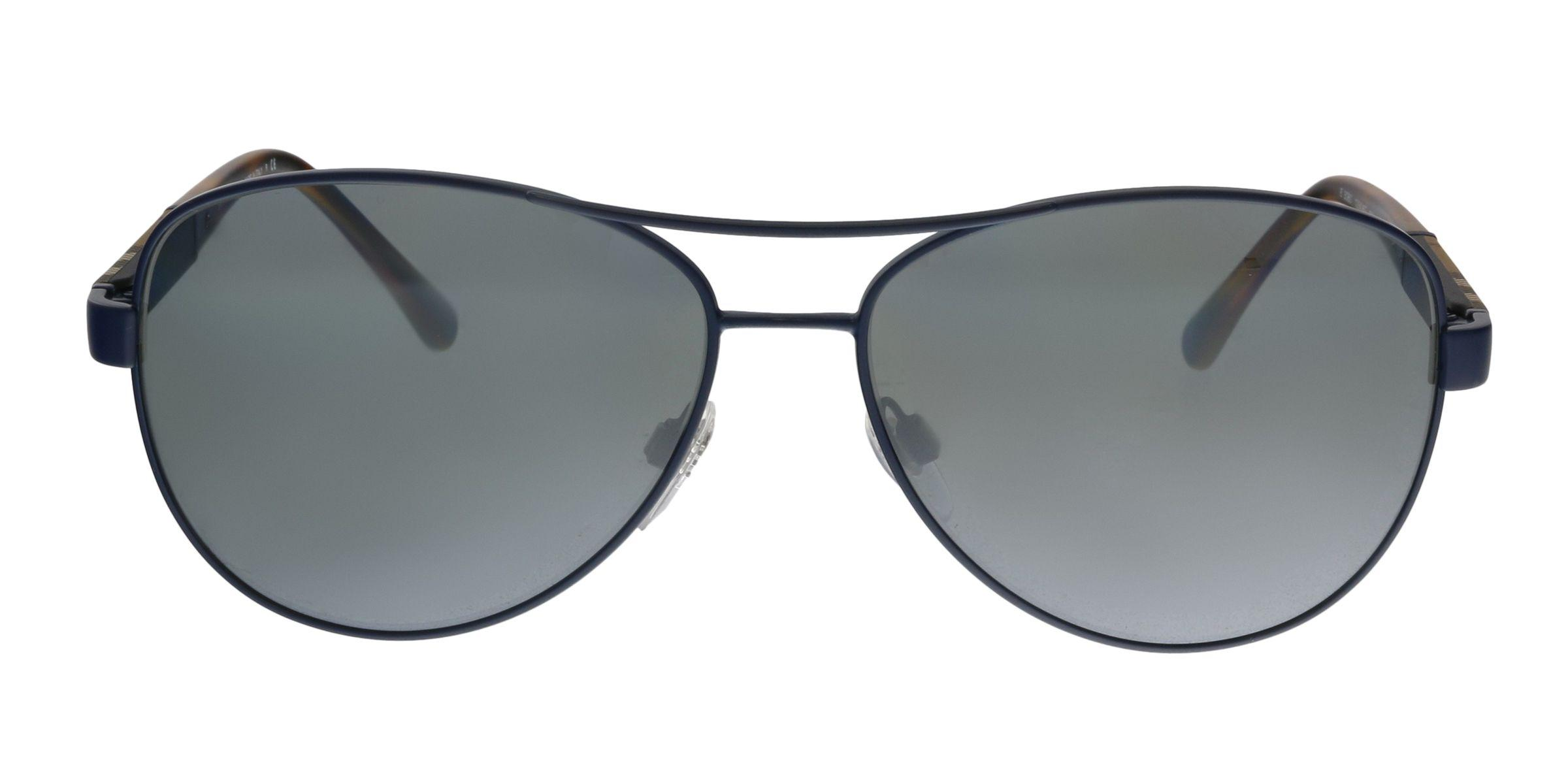 399c3cb6ab4 Burberry - Be3080 12346g Matte Blue Aviator Sunglasses - Lyst. View  fullscreen