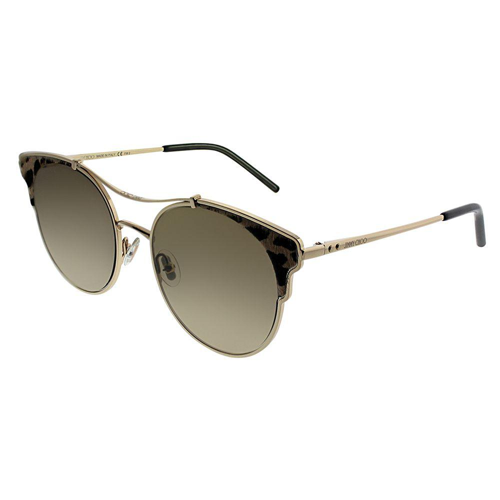 92a1065a2bb8 Jimmy Choo. Women s Jc Lue s Xmg Gold Black Panther Cat-eye Sunglasses