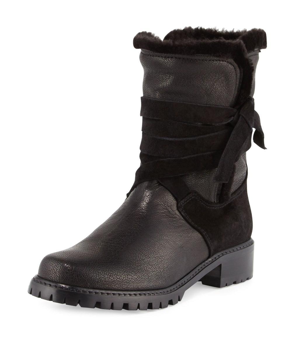 Stuart Weitzman Snowfield Faux Fur Boot (Women's) 4dcZu3UI