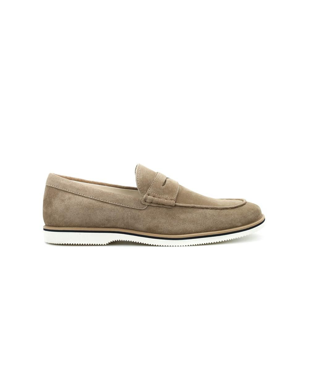 Men's HXM2620R730D54C803 Beige Suede Loafers