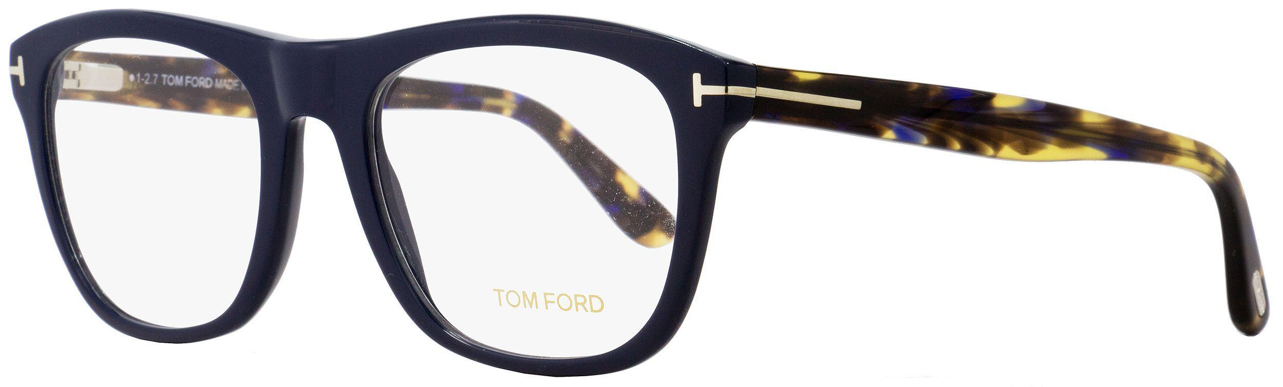 15a52093318e Tom Ford - Rectangular Eyeglasses Tf5480 090 Navy Blue havana 54mm Ft5480  for Men -. View fullscreen