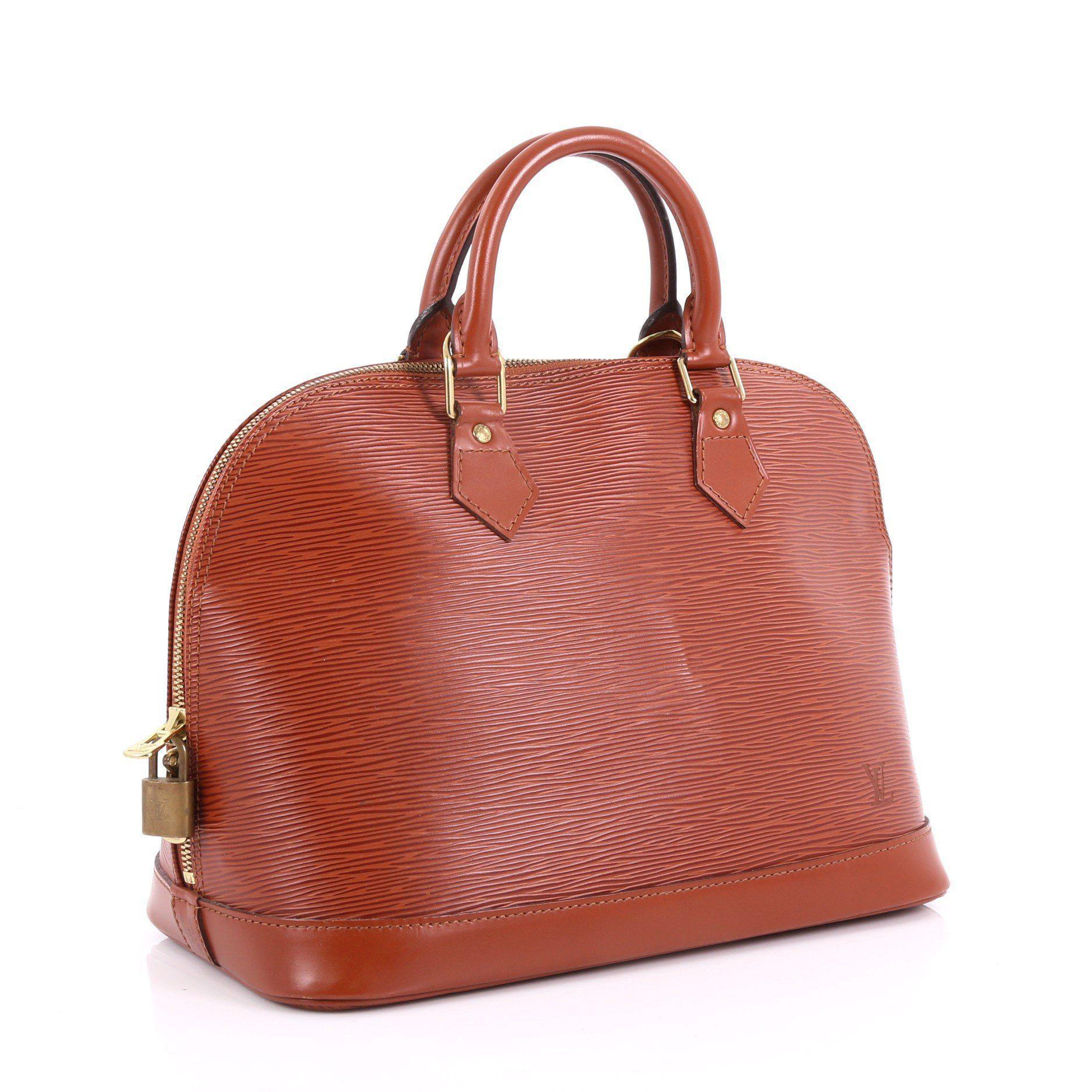 0f8ae14e5002 Louis Vuitton - Red Pre Owned Vintage Alma Handbag Epi Leather Pm - Lyst.  View fullscreen