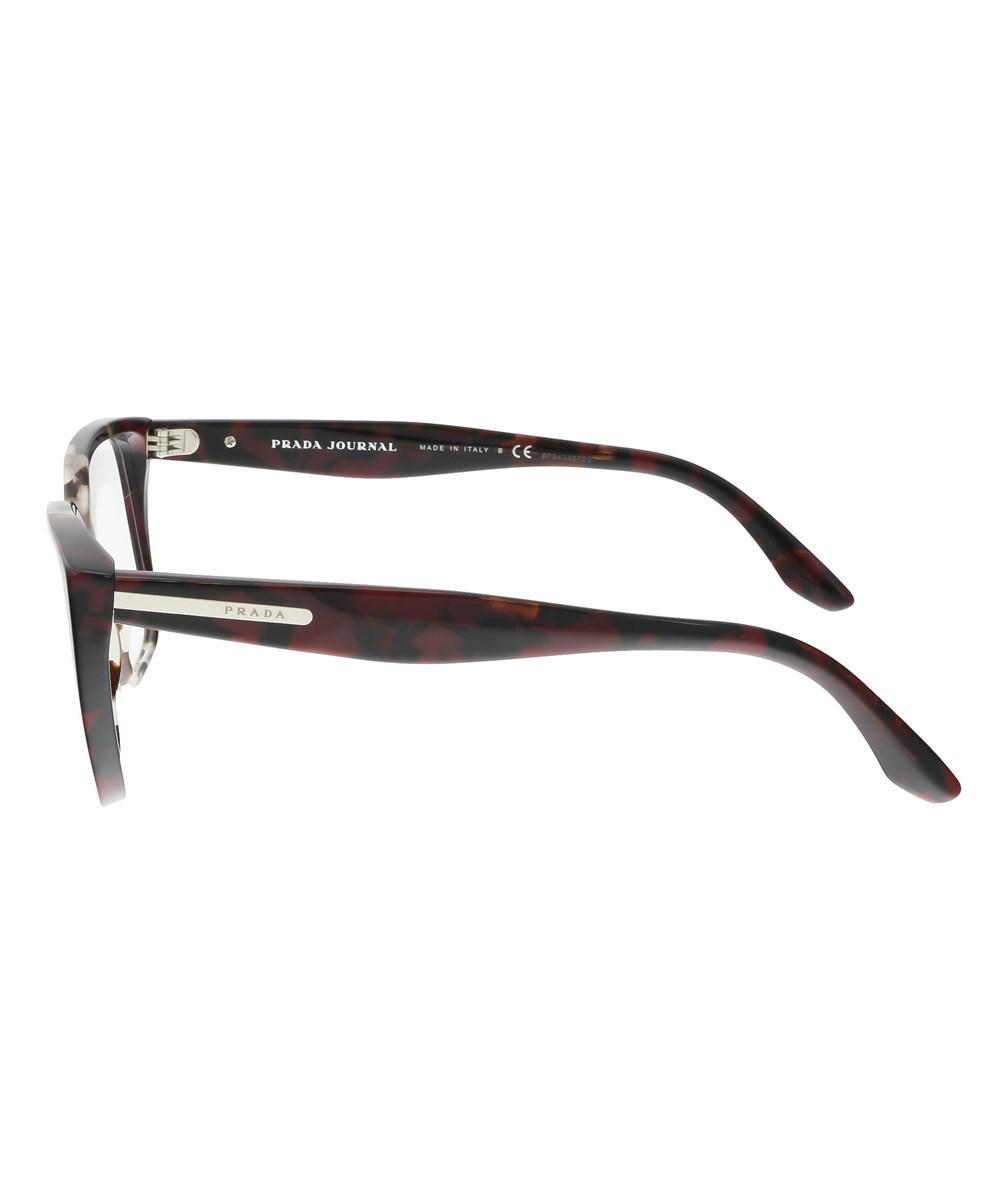 975016aaa1f Lyst - Prada Pr 08tv U6k1o1 Spotted Brown Opal Square Sunglasses in ...
