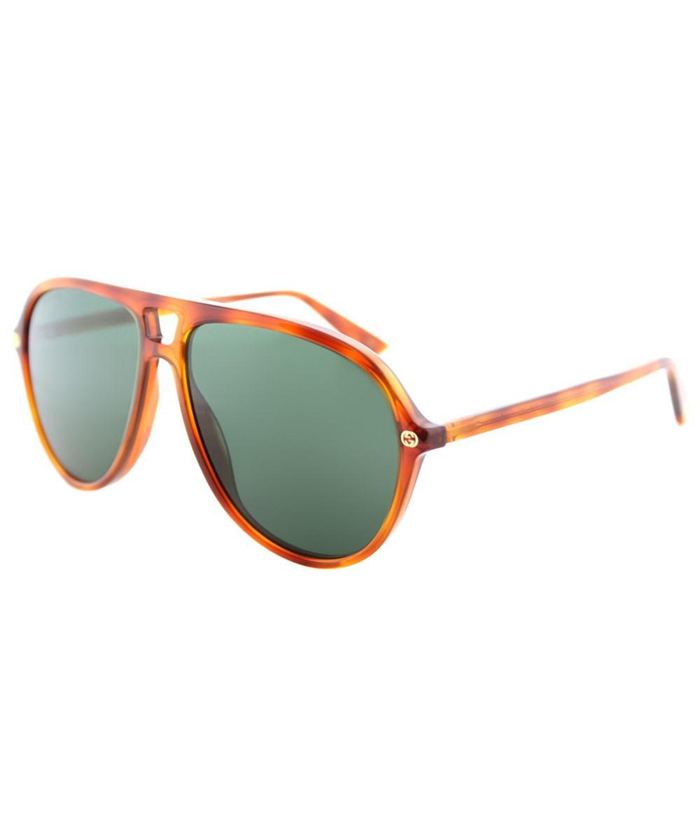 bd6024750bf Gucci. Women s Gg0119s 003 Light Havana Aviator Sunglasses