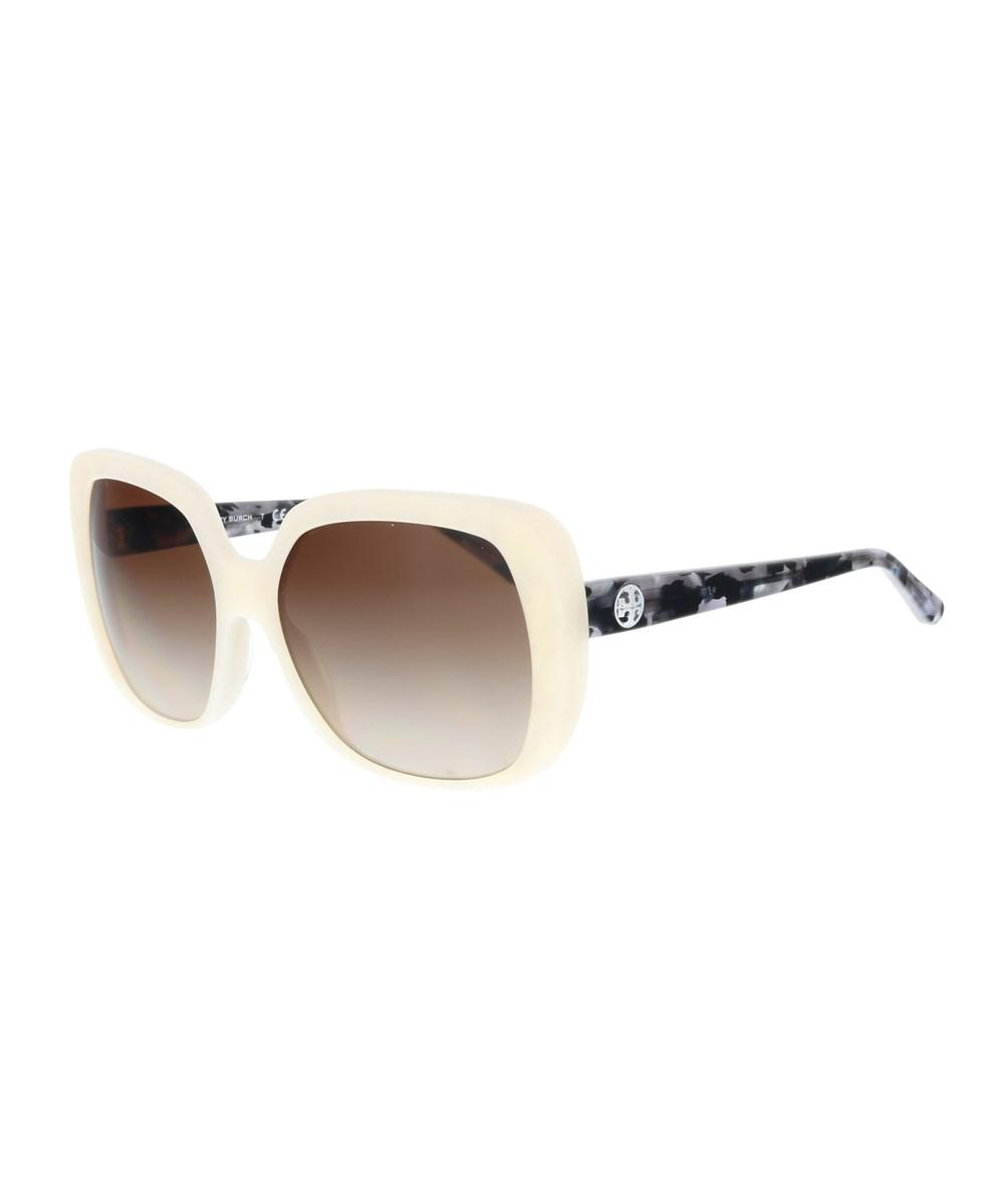 578919b064b5c Lyst - Tory Burch Ty7112 168413 Ivory Moons Oversized Sunglasses in ...