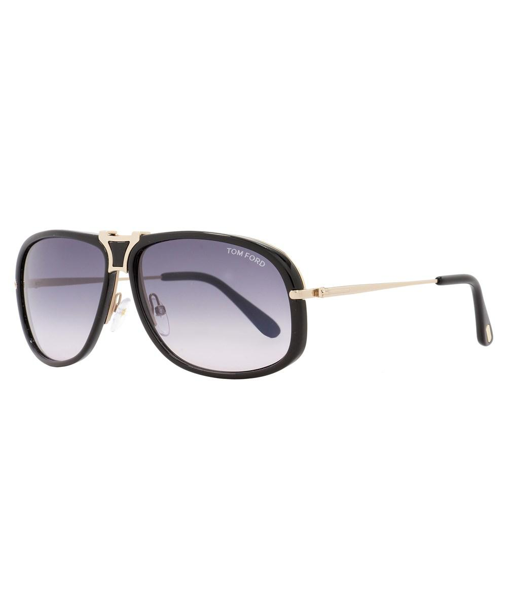 ed9b0af5575 Lyst - Tom Ford Rectangular Sunglasses Tf286 Robbie 01b Black rose ...