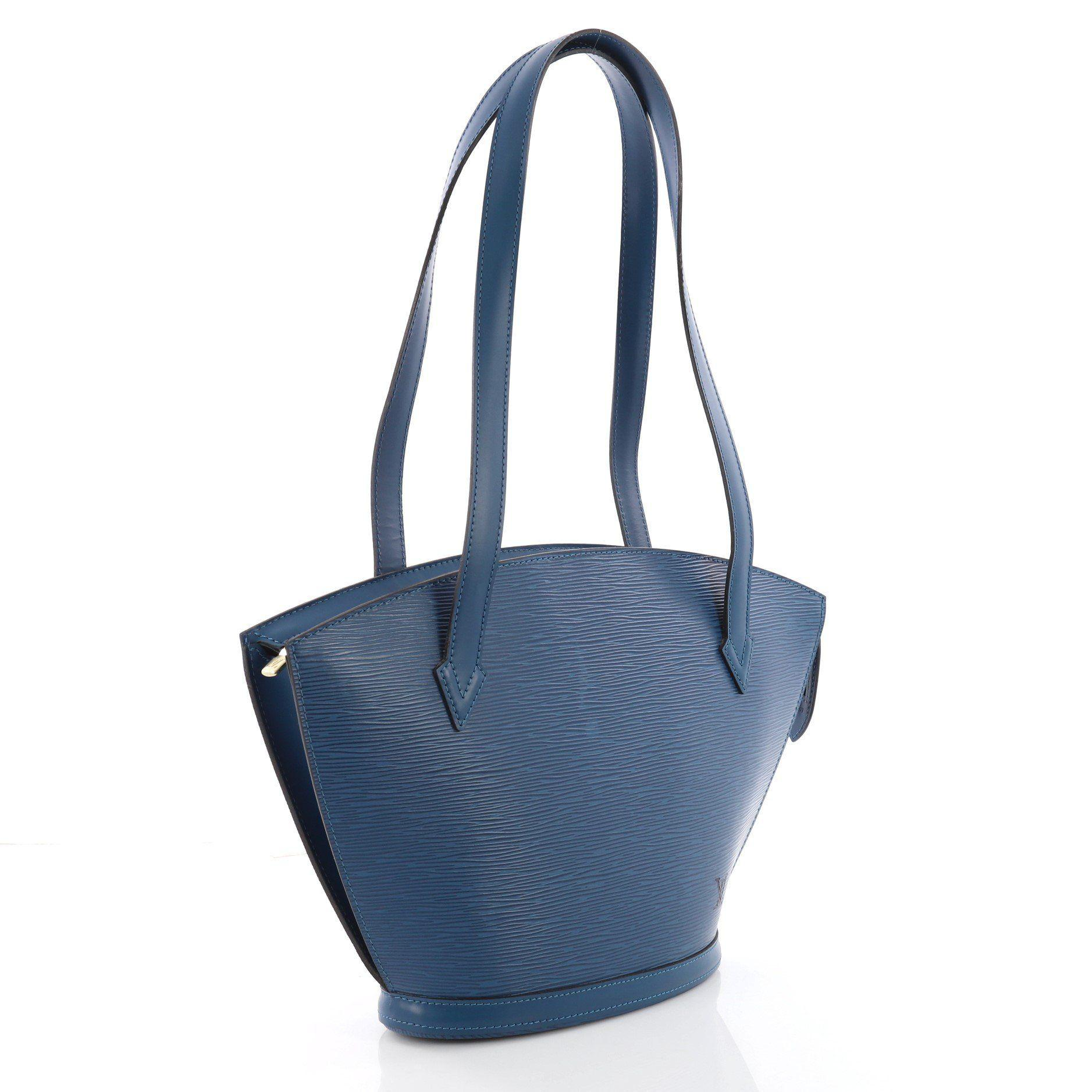 e04cb3f948c7 Louis Vuitton - Blue Saint Jacques Handbag Epi Leather Pm - Lyst. View  fullscreen