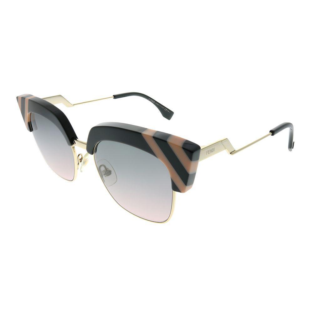d96a525cd Lyst - Fendi Waves Ff 0241 Kb7 Jp Grey Pink Cat-eye Sunglasses in Gray