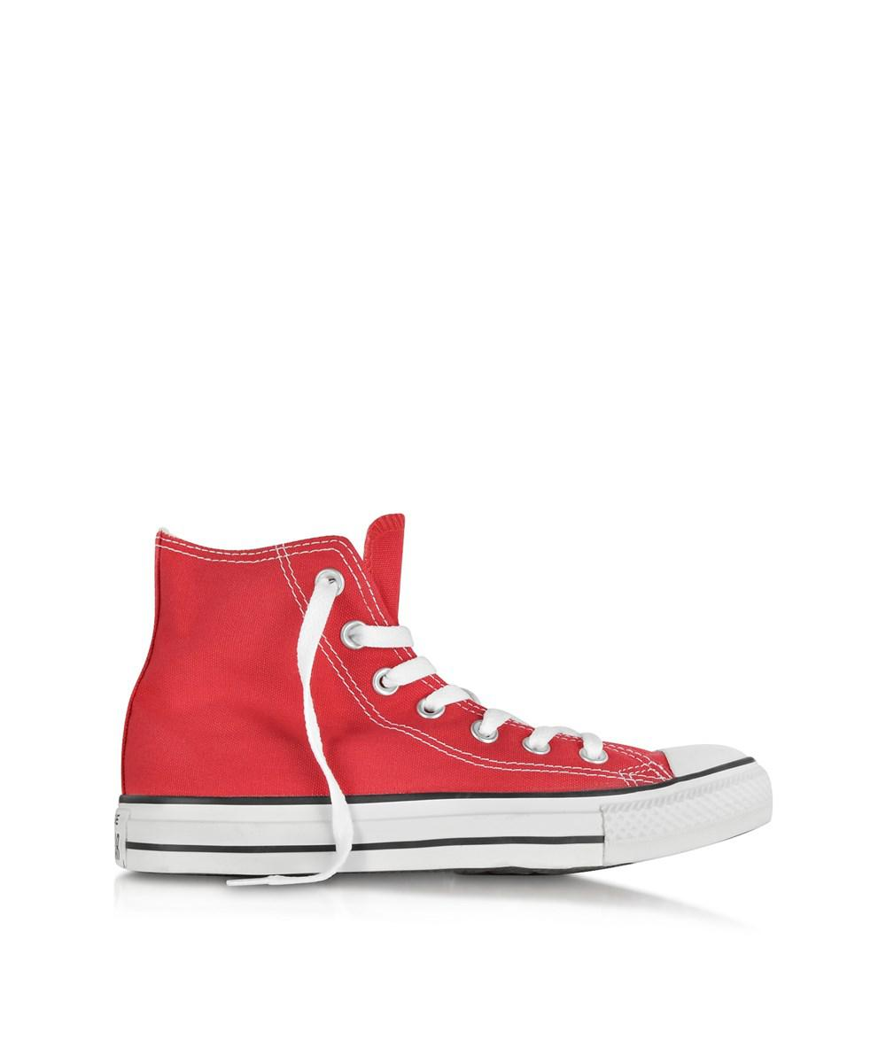 87e72c541cf5 Lyst - Converse All Star Red Canvas High Top Sneaker in Red for Men ...