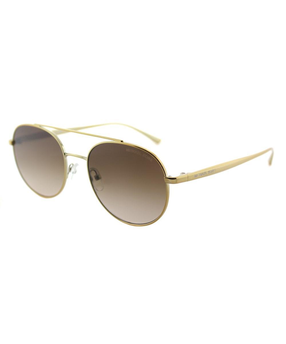 1c69591e44 Michael Kors. Women s Metallic Mk1021 116813 Gold-tone Aviator Lon  Sunglasses