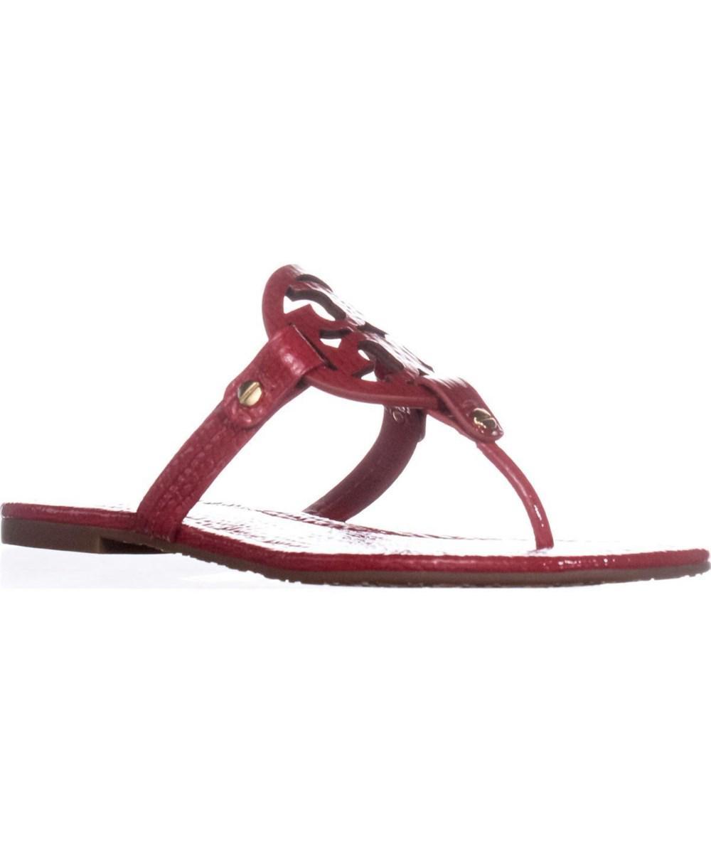 caed073914b1d Lyst - Tory Burch Miller Logo Flat Sandals