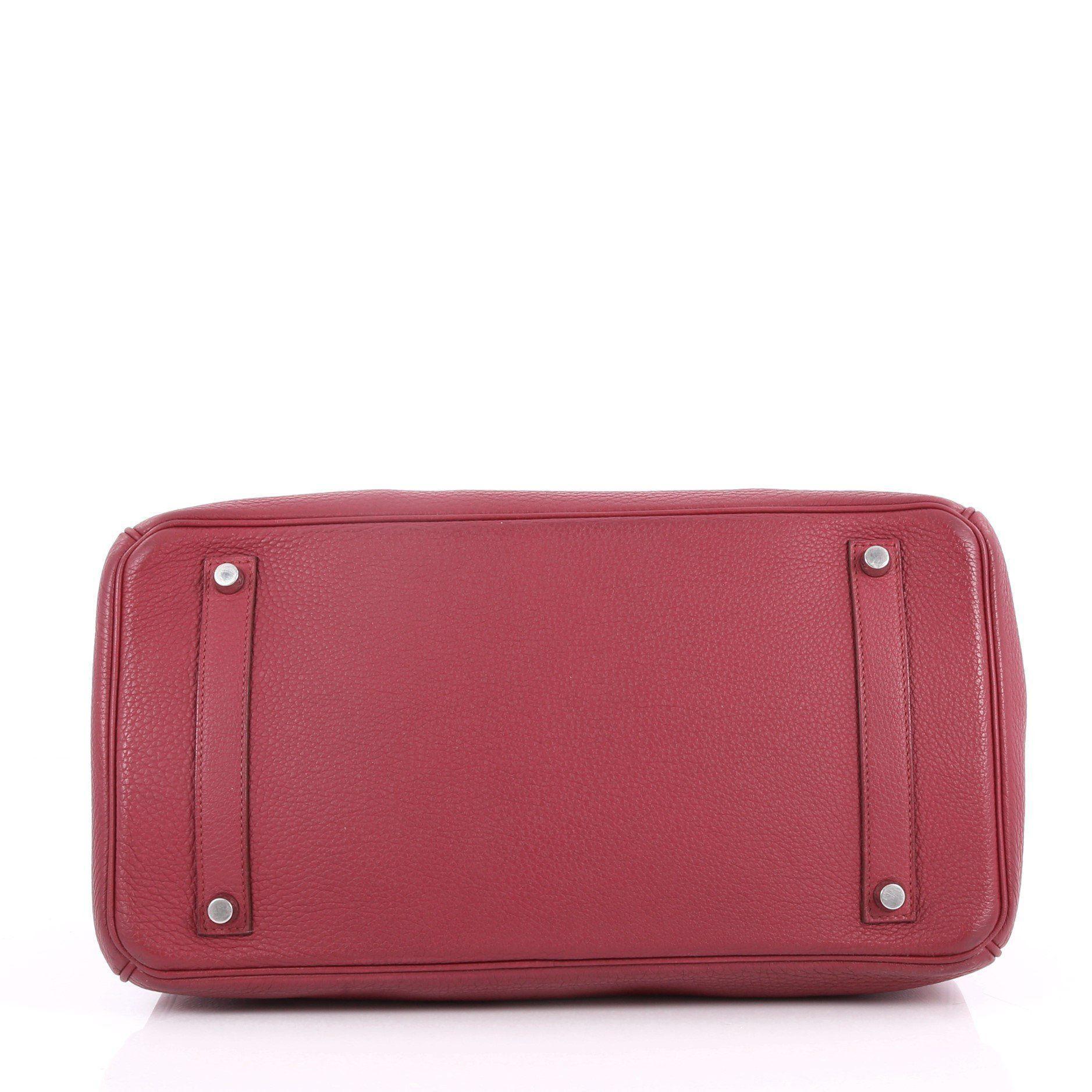 0f171634de957 Hermès - Red Pre Owned Birkin Handbag Rubis Togo With Palladium Hardware 35  - Lyst. View fullscreen