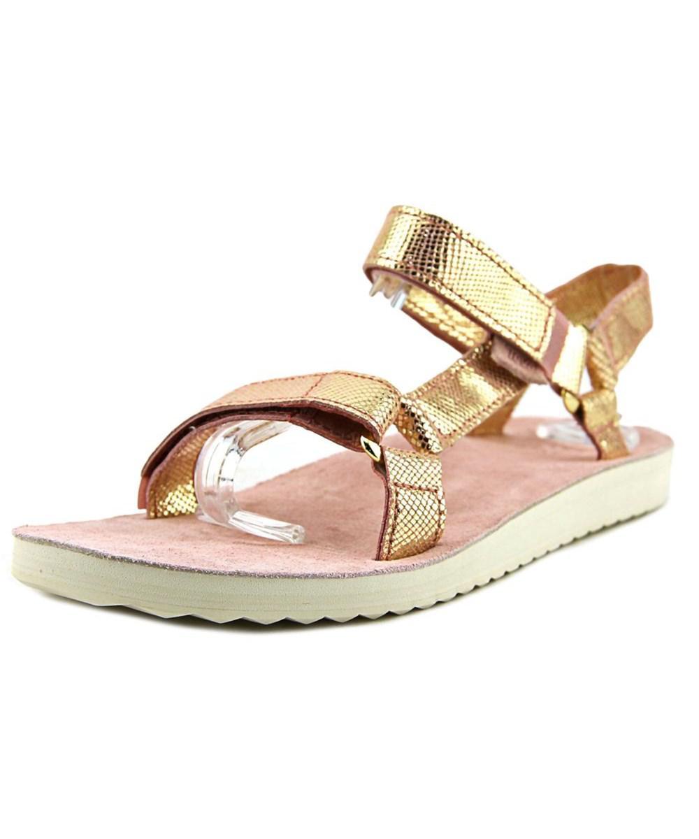 f52839070d13 Lyst - Teva Original Universal Radiant Women Open-toe Leather Pink ...