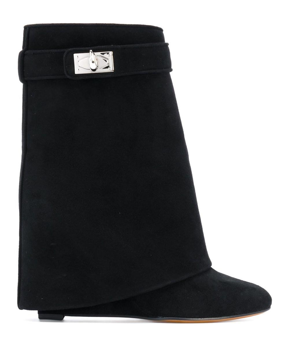 78ef2547e937 Lyst - Givenchy Women s Be08906040001 Black Suede Ankle Boots in Black