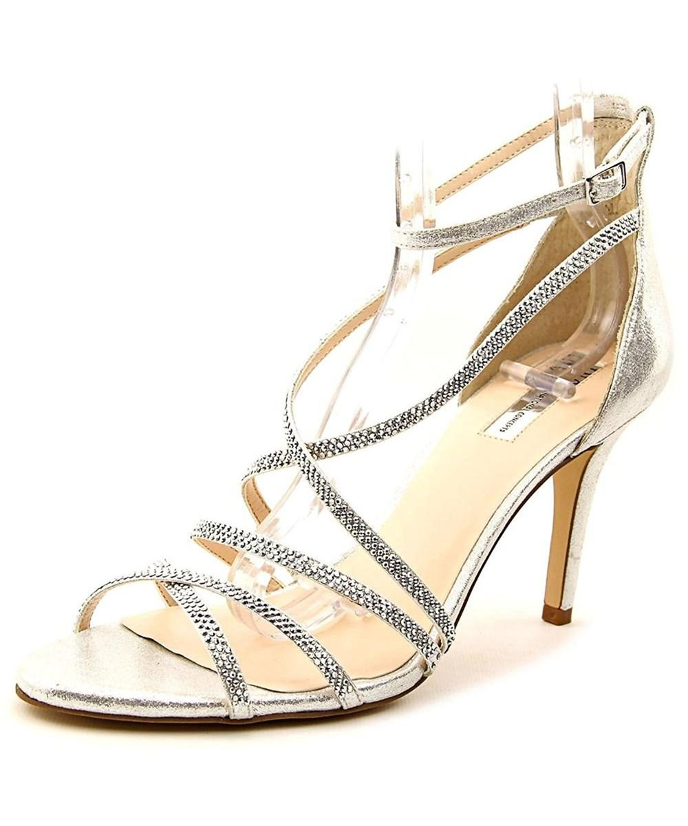 7a15d0929b4 INC International Concepts. Metallic Women s Gemm2 Ankle Strap Heeled  Sandals