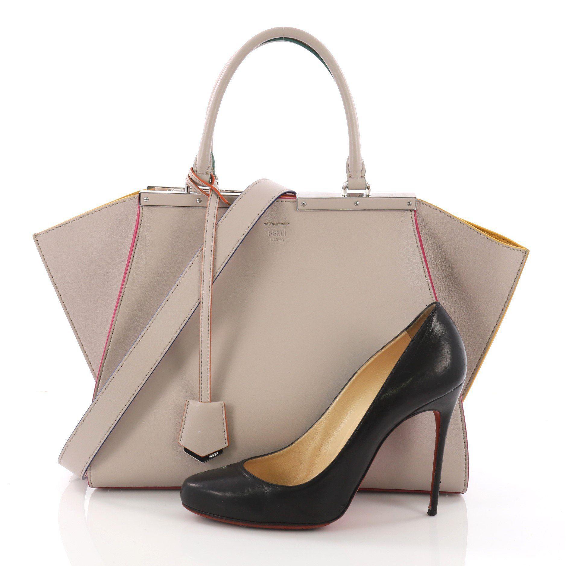 2611443a46a1 Lyst - Fendi Pre Owned Petite 3jours Handbag Leather