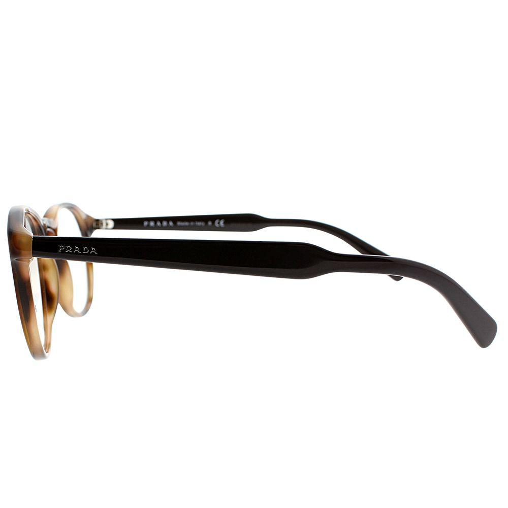 168538173e Prada - Pr 19sv U6j1o1 48mm Striped Brown Round Eyeglasses - Lyst. View  fullscreen