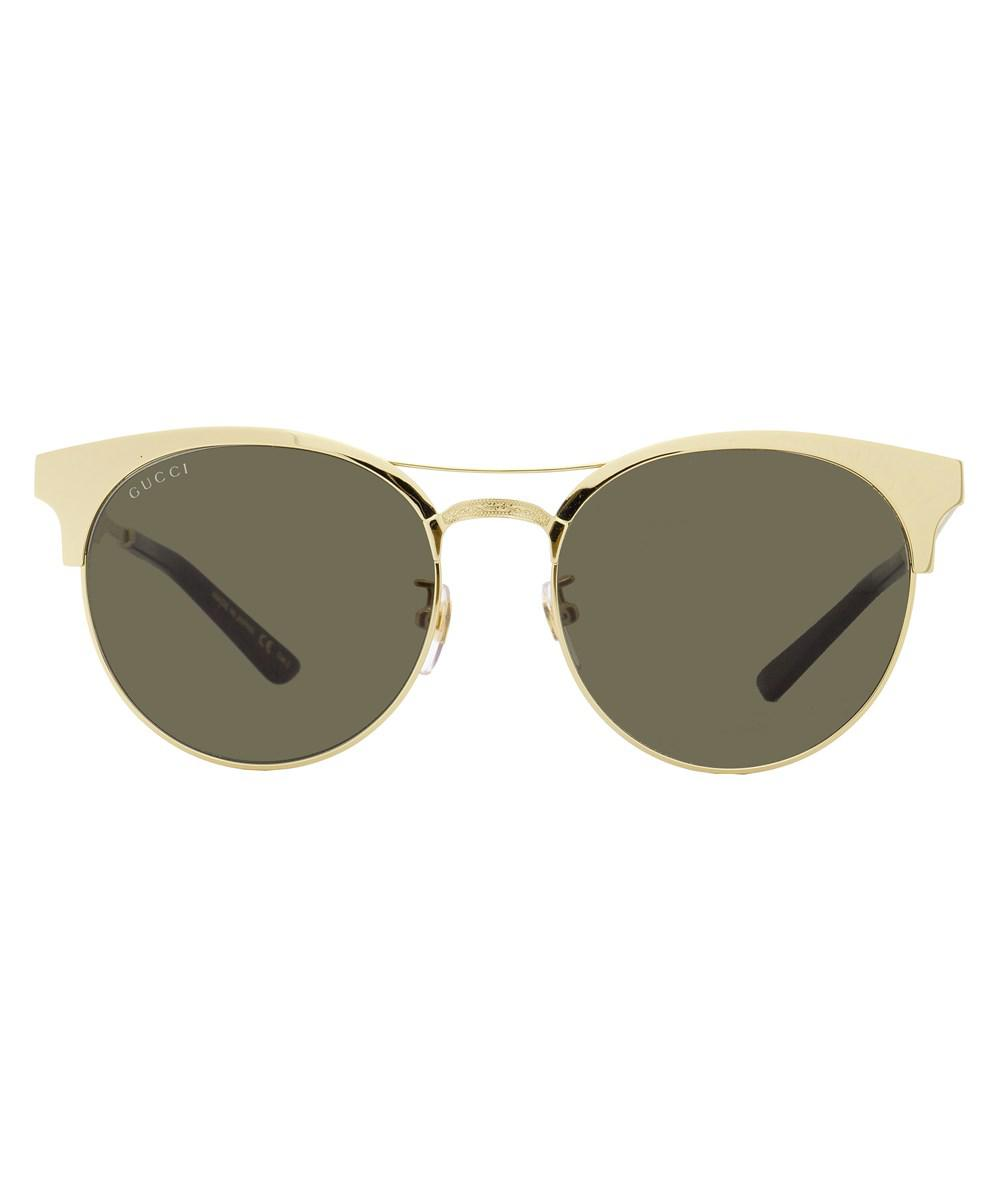 3ff461b268f Gucci - Metallic Oval Sunglasses Gg0075s 003 Gold 0075 - Lyst. View  fullscreen