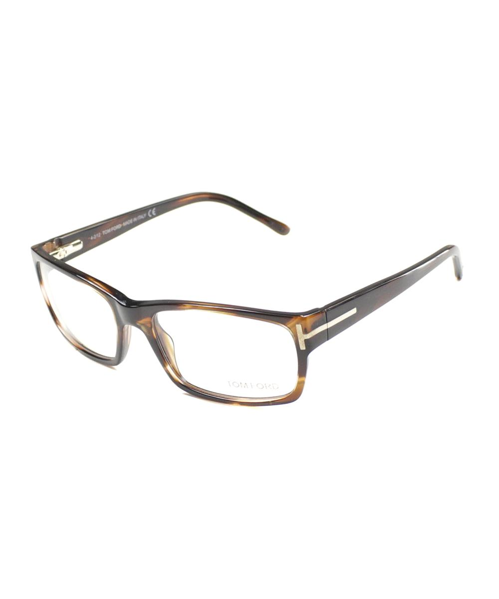 1f70a4408d2 Lyst - Tom Ford Rectangle Plastic Eyeglasses in Brown