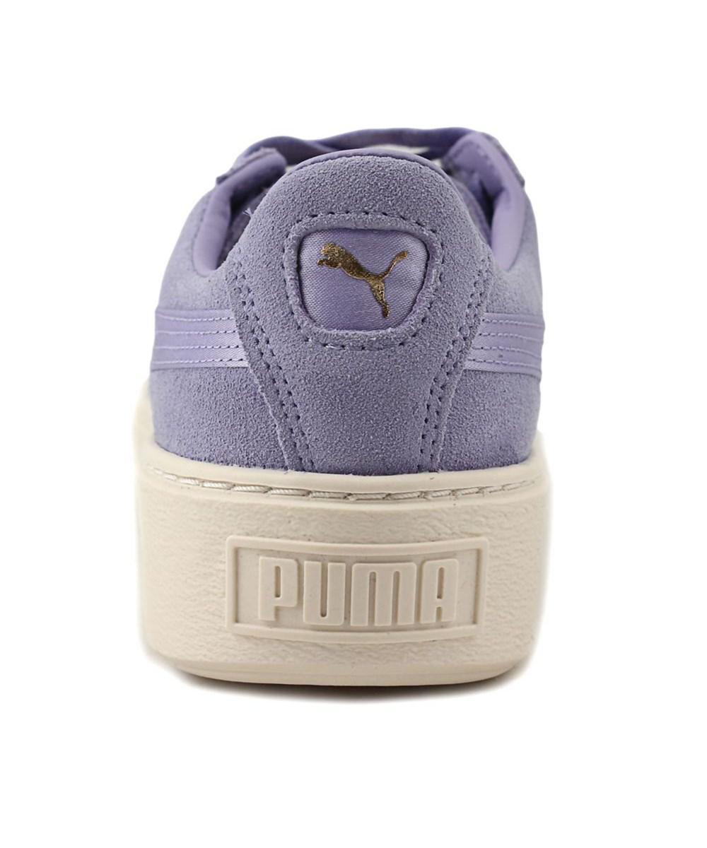 965ede3c831 Lyst - Puma Platform Mono Satin Women Round Toe Suede Purple ...