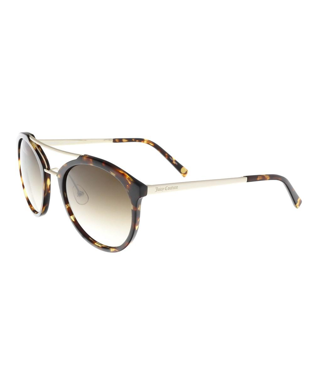 18dbe71e7b Lyst - Juicy Couture Juicy 578 s 86 Dark Havana Oval Sunglasses in Brown