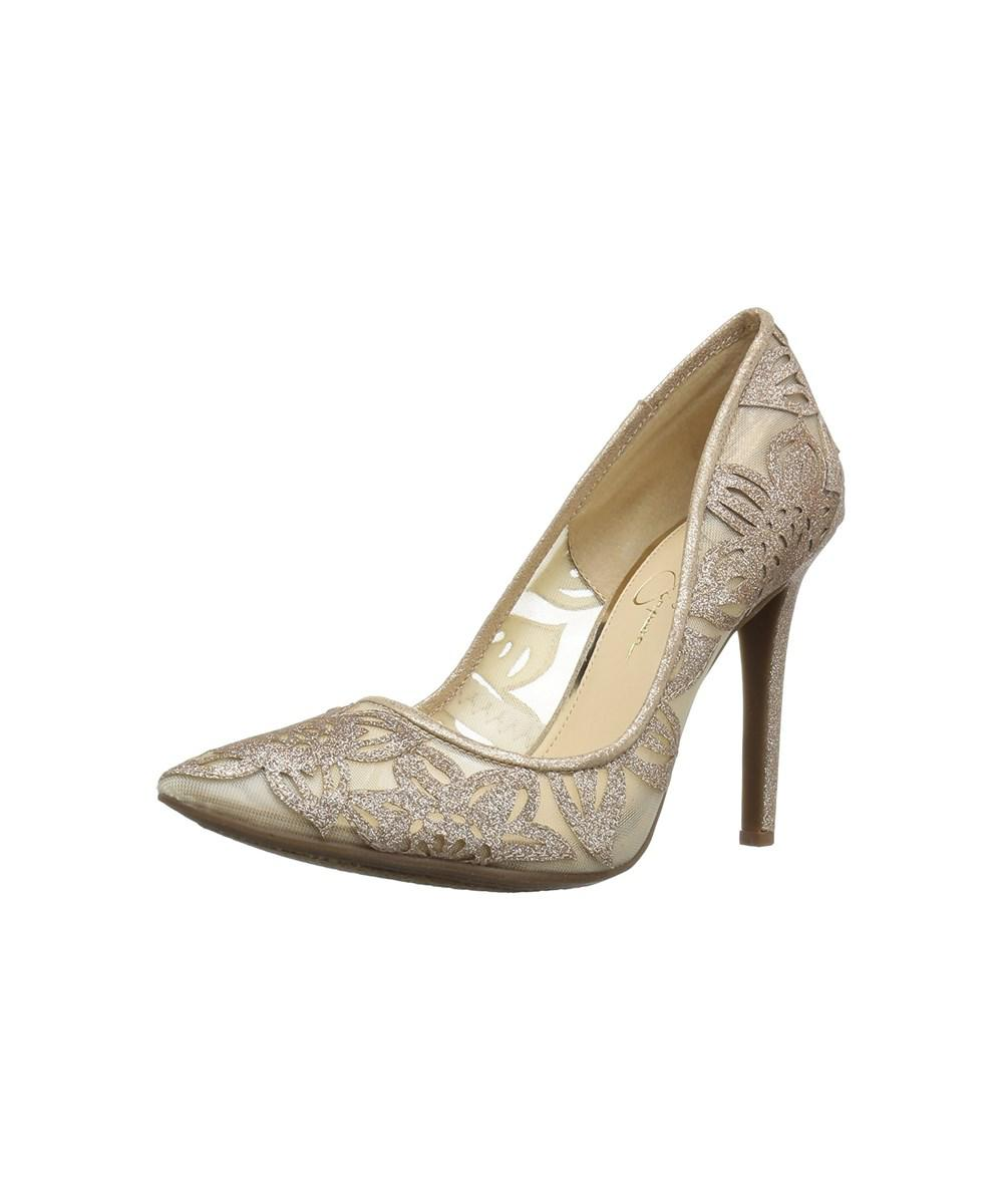 e39838299f9 Lyst - Jessica Simpson Women s Charese Dress Pump in Natural