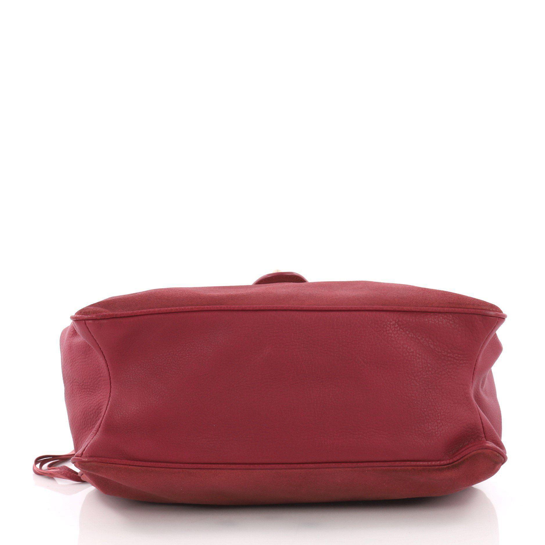 2cb7b28cdb Balenciaga - Red Tube Square Handbag Suede Small - Lyst. View fullscreen