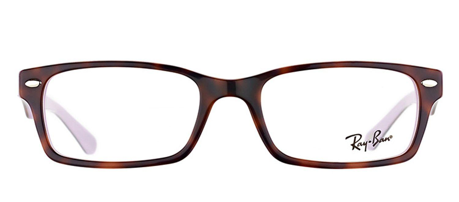 7a521b93e9 Lyst - Ray-Ban Rx 5206 5240 54mm Brown Rectangular Eyeglasses in Brown