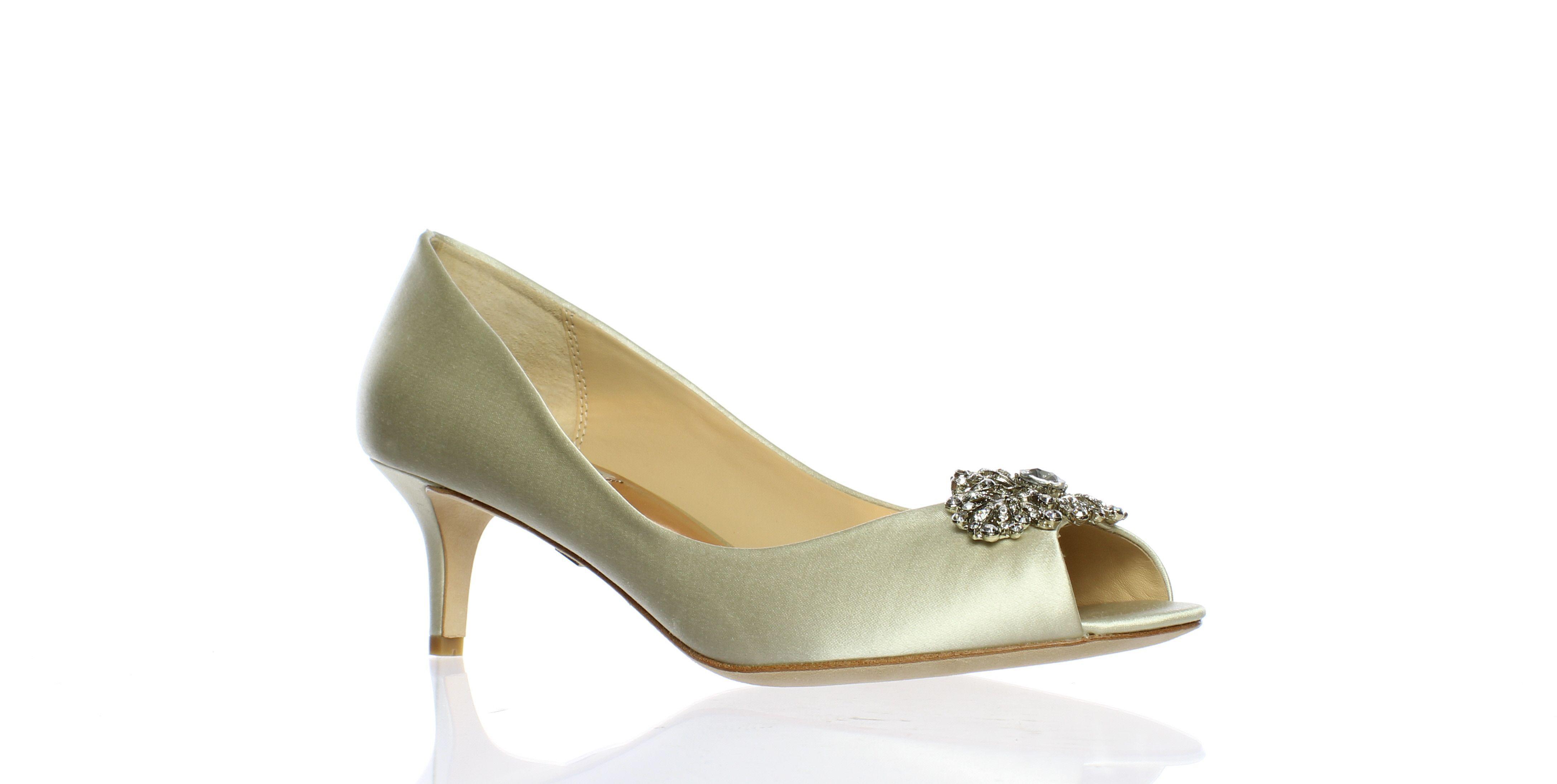 c7b1697f852 Lyst - Badgley Mischka Womens Layla Ivory Peep Toe Heels in White
