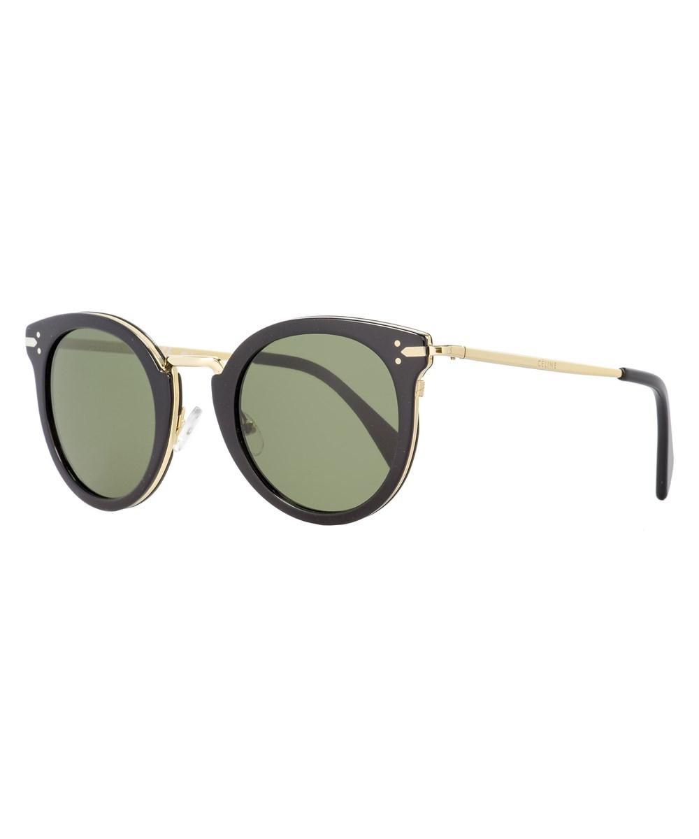 9adc0f3ef6b Lyst - Céline Oval Sunglasses Cl41373s Anw1e Black gold 48mm 41373 ...