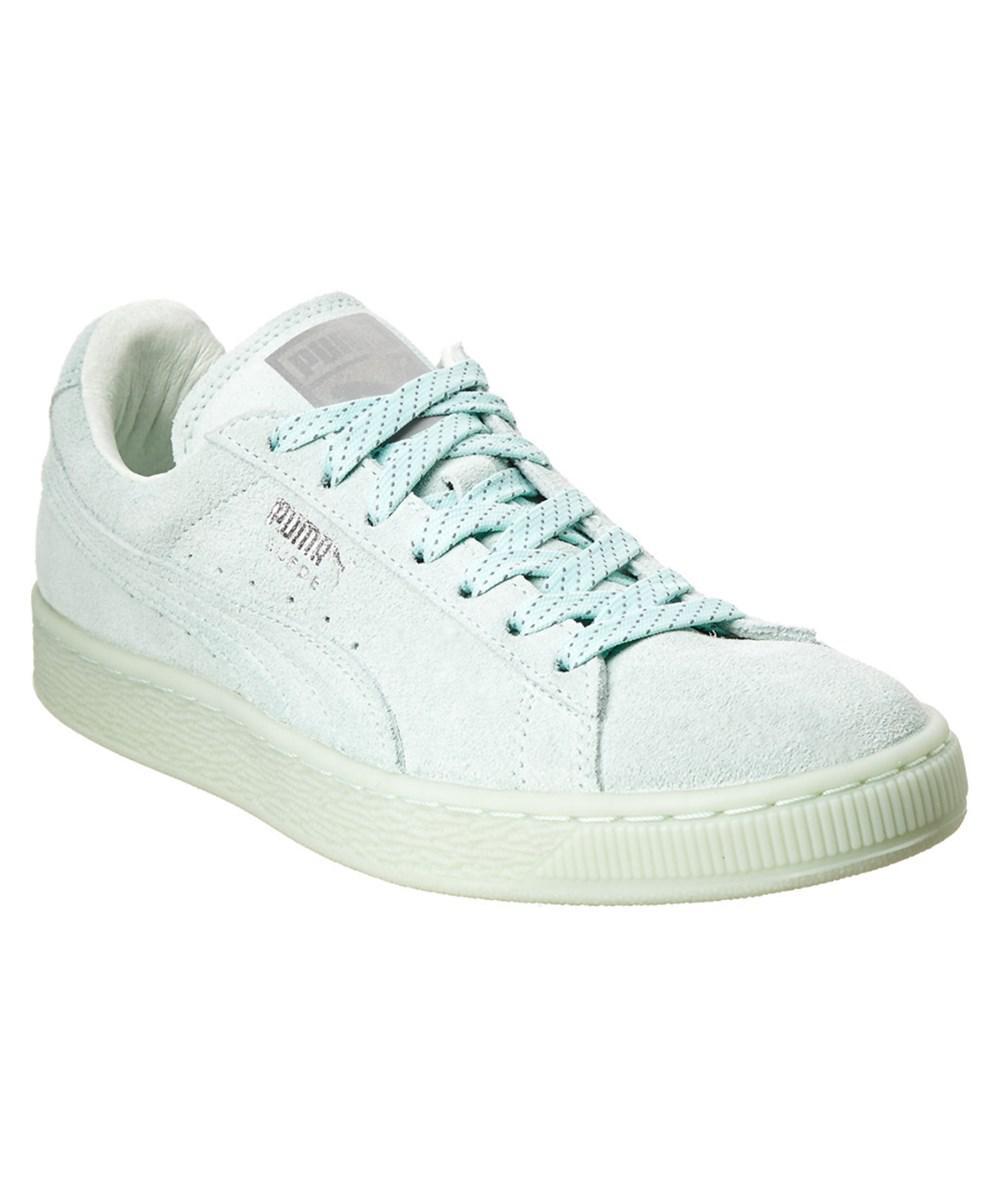 2edff030c50 Puma Women s Classic Mono Ref Ice Suede Sneaker in Green - Save ...