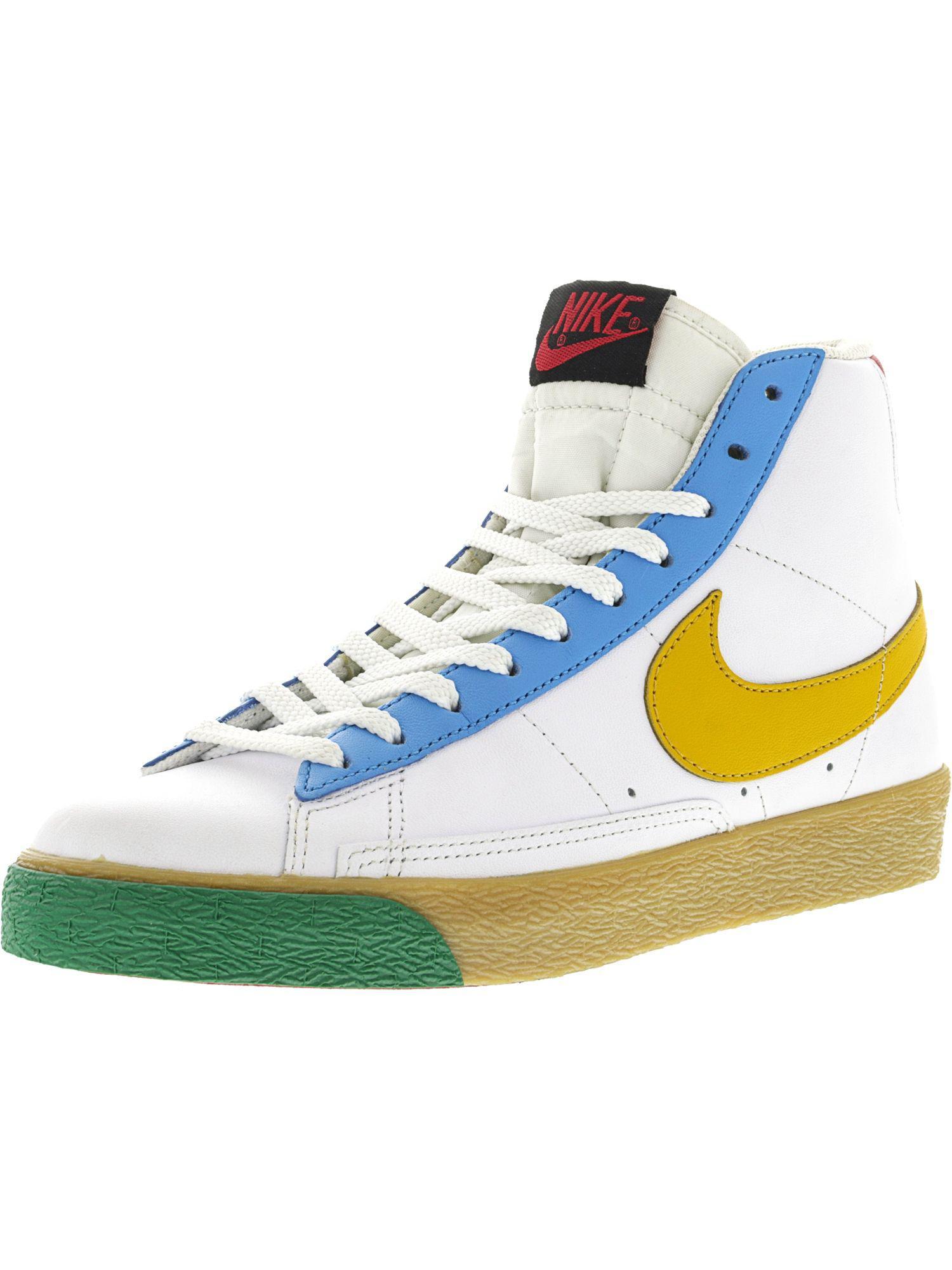 lowest price 2b455 cafaa Nike. Women s Blazer Mid White   Yellow ...