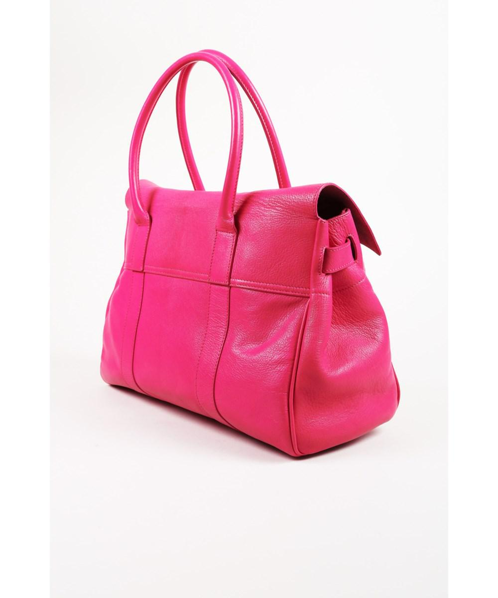 Lyst - Mulberry 1 Fuchsia Pink Pebbled Leather Top Handle