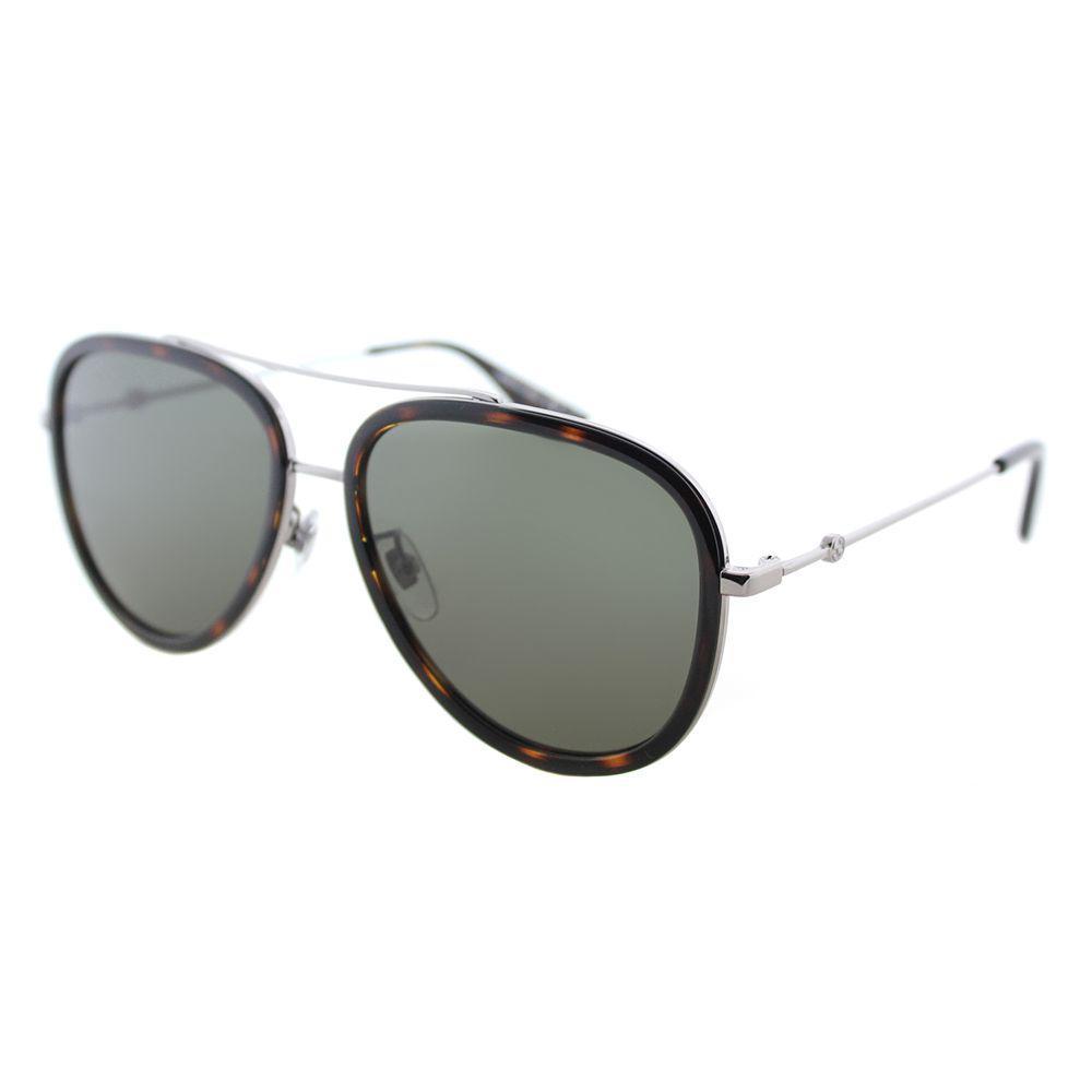 32ce0d9db9 Gucci. Women s GG 0062s 002 Ruthenium Aviator Sunglasses