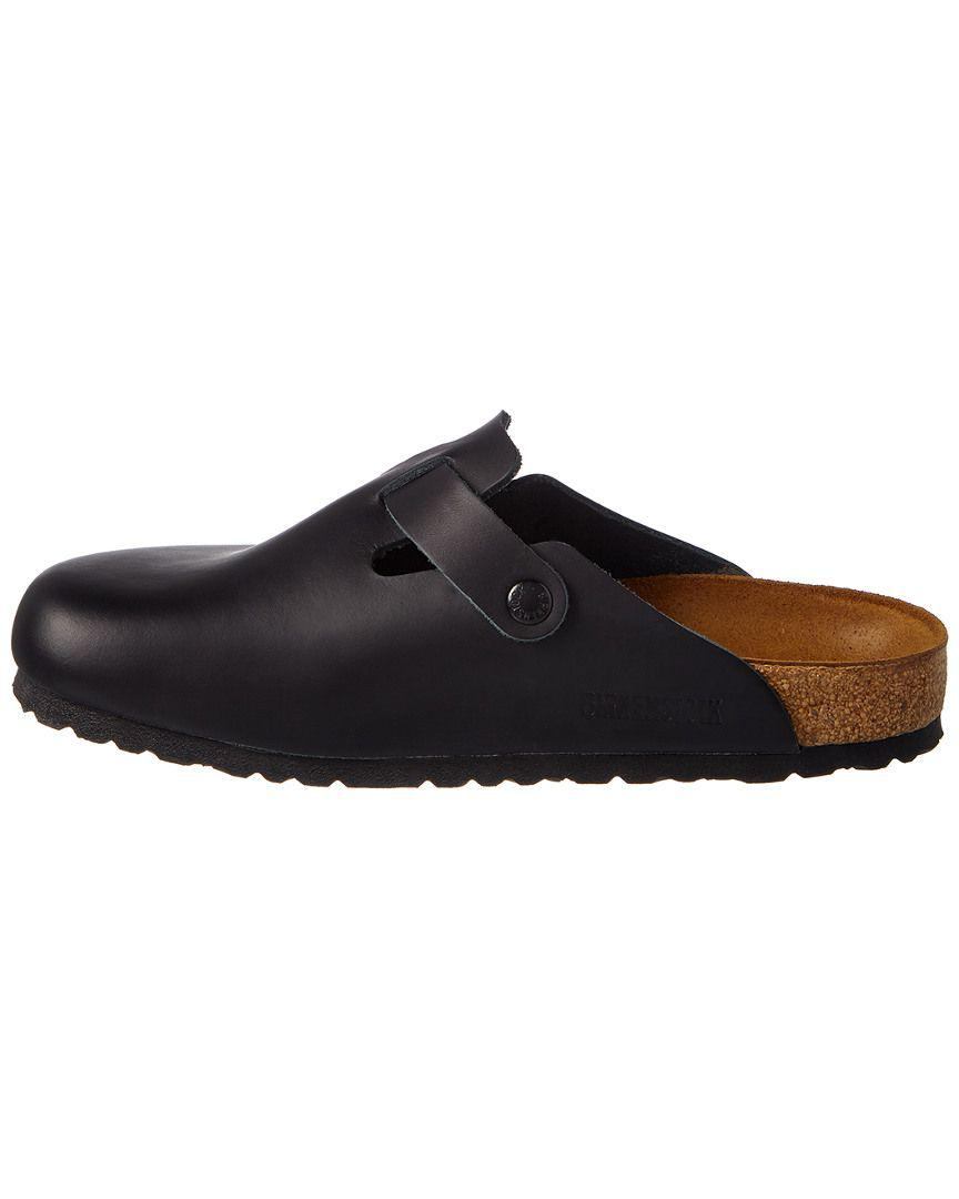 e69734d55c15 Lyst - Birkenstock Boston Smooth Leather Clog in Black