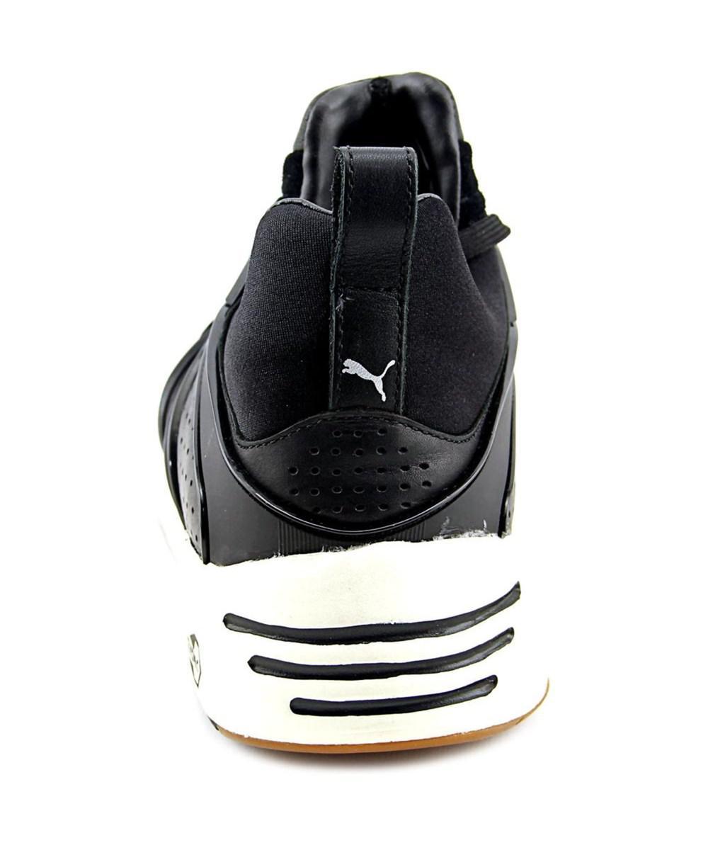 a0c3b120700 Lyst - Puma Blaze Of Glory Men Round Toe Leather Black Running Shoe ...