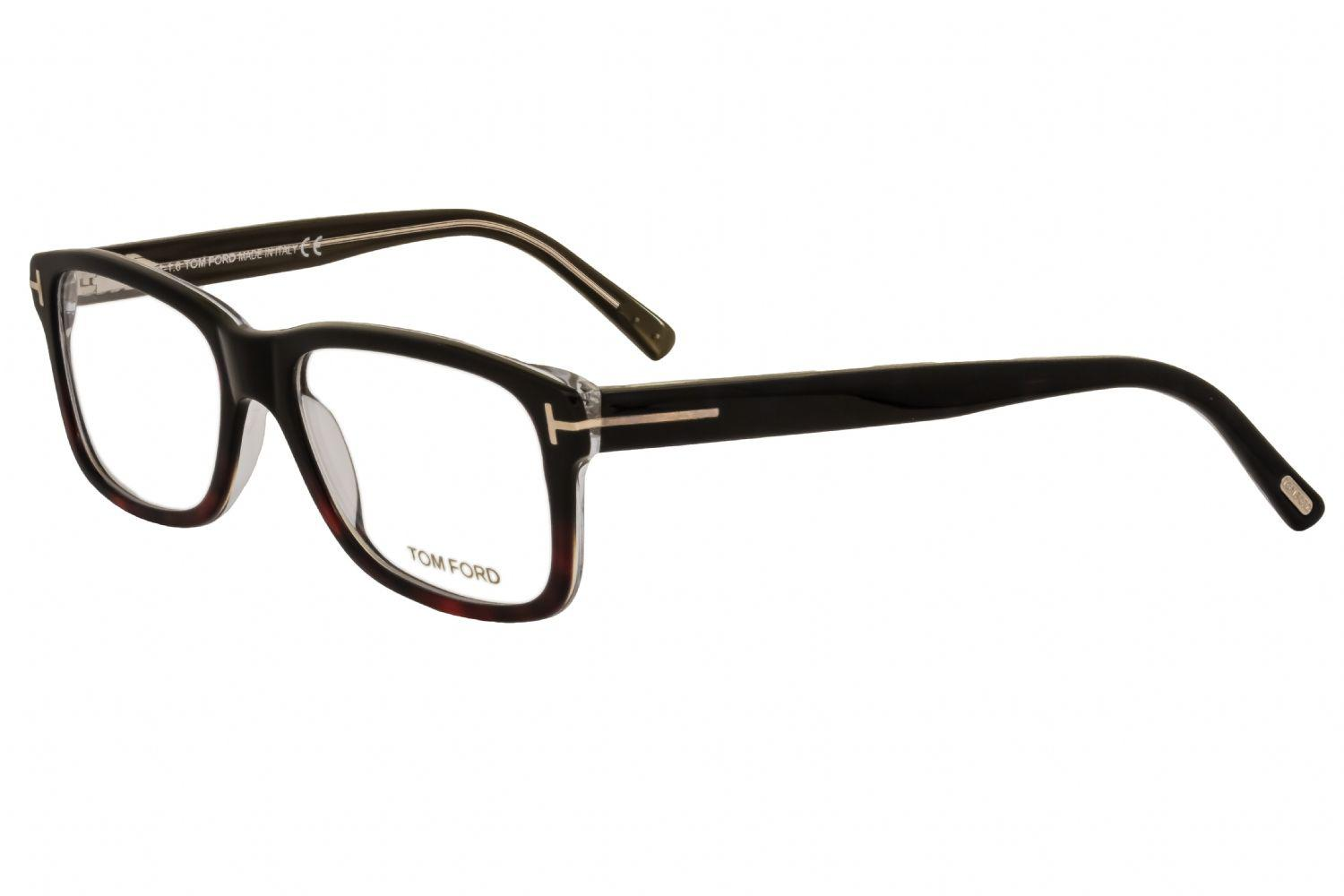 16a3c347e2 Tom Ford - Ft5163 Rectangular Unisex Eyeglasses Black Gradient Havana   Clear  Lenses - Lyst. View fullscreen