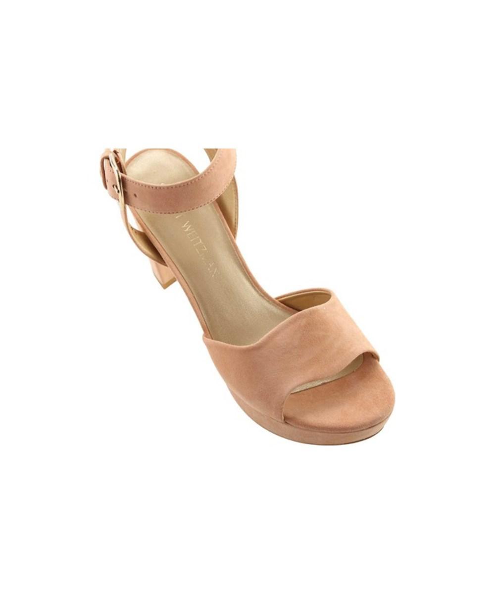 467cddd96 Stuart Weitzman - Multicolor Women s Realdeal Suede Sandal Naked Suede Size  11 M - Lyst. View fullscreen