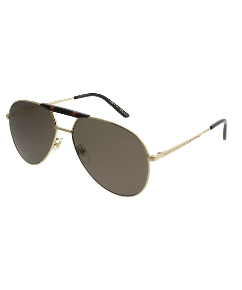 c04ac70c5e6 Lyst - Gucci Gg0242s 002 Gold Aviator Sunglasses in Metallic