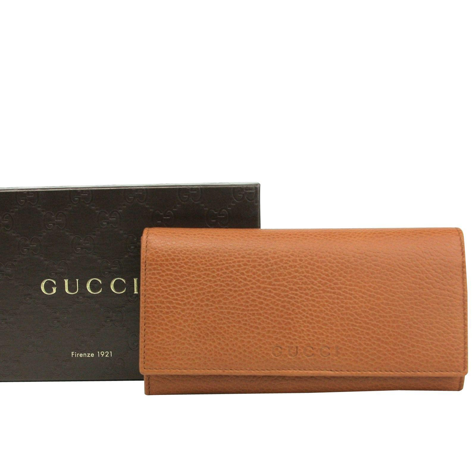 06ae09bb988177 Gucci - Brown Long/continental Dark Orange Leather Wallet With Logo 346058  7614 - Lyst. View fullscreen
