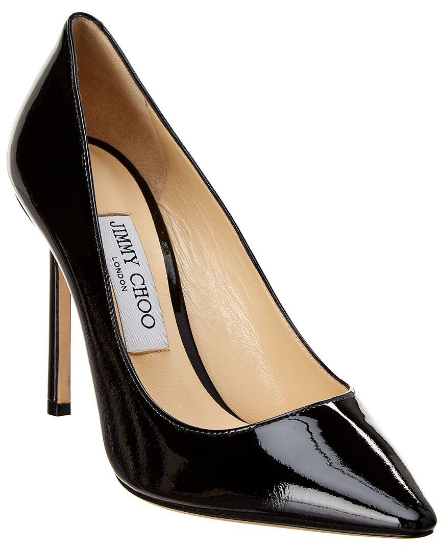 129cac8dbc52 Lyst - Jimmy Choo Romy 100 Patent Pump in Black