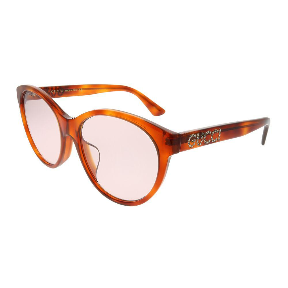 1996066cbb8 Gucci. Women s Gg 0419sa 004 Light Havana Round Sunglasses