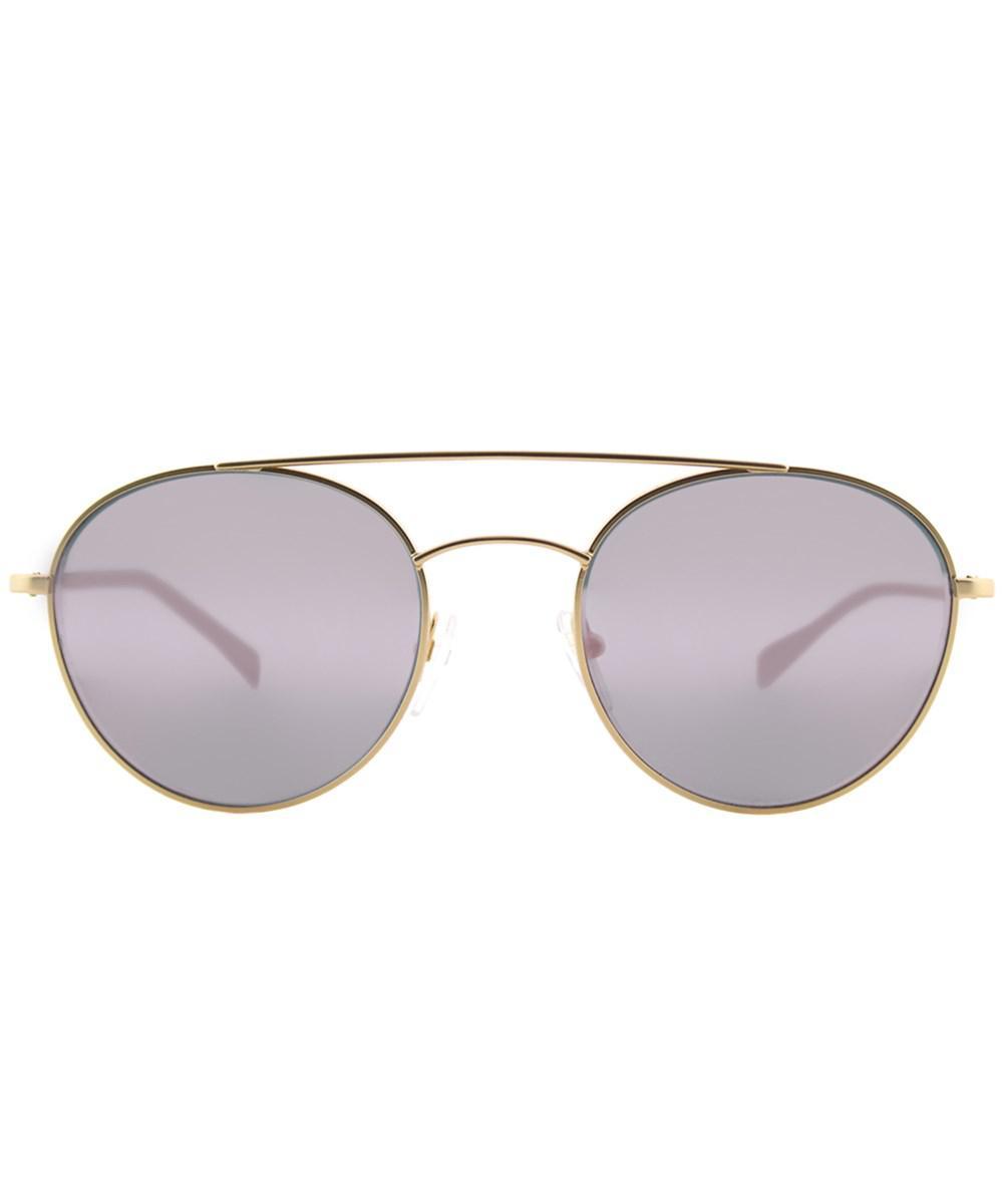 0515b4540fbfa Prada - Metallic 0ps51ss 1bk5t051 Panthos Matte Gold Round Sunglasses -  Lyst. View fullscreen